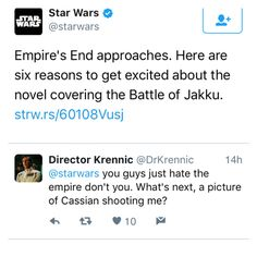 Director Krennic humor. (This made me laugh for some reason.) #sw #rogueone #krennic
