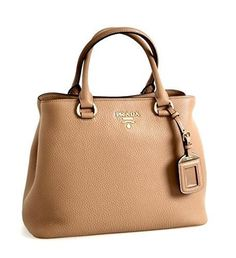 7da50a3231b4 Prada Women s 1BA058 Brown Leather Shoulder Bag