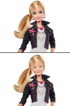 Barbie without makeup. no makeup for barbie! its not perfect but its natural Humor Barbie, Barbie Funny, Fat Barbie, Barbie Life, Tastefully Offensive, Makeup Humor, Pictures Online, Funny Bunnies, Without Makeup