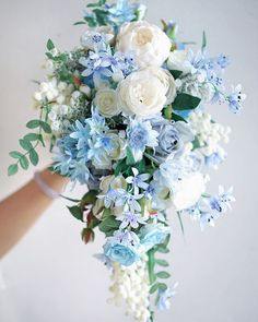 Cascade wedding bouquets spring wedding bouquet greenery wedding bouquet wedding weddingbouquet source by vimdecor 37 prettiest shades of blue wedding ideas for 2019 trends page 2 of 2 Cascading Wedding Bouquets, Blue Wedding Flowers, Bride Bouquets, Bridal Flowers, Flower Bouquet Wedding, Wedding Colors, Bouquet Of Flowers, Purple Flowers, Diy Flowers