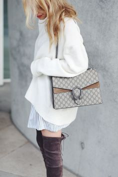 More on ohhcouture.com | streetstyle: over the knee boots, @gucci dionysus bag