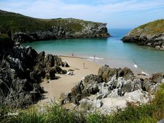 Playa de Cue, Asturias. España