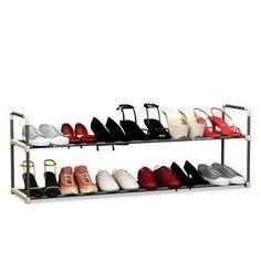 Rebrilliant 80 Pair Shoe Rack | Wayfair Shoe Storage Organiser, Door Shoe Organizer, Shoe Storage Cabinet, Bench With Shoe Storage, Toilet Storage, Cube Storage, Wall Storage, Storage Organization, Cube Organizer