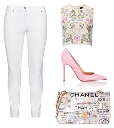 Floral of sophistication by beatrice-gabrielle on Polyvore featuring polyvore, fashion, style, Needle & Thread, Steilmann, Gianvito Rossi, Chanel and clothing