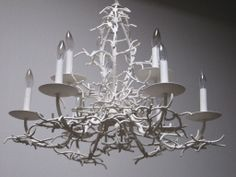 Seaward white coral branch chandelier wrought iron iron and seaward white coral branch chandelier wrought iron iron and branch chandelier aloadofball Gallery