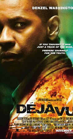 Directed by Tony Scott.  With Denzel Washington, Paula Patton, Jim Caviezel, Val Kilmer. After a ferry is bombed in New Orleans, an A.T.F. agent joins a unique investigation using experimental surveillance technology to find the bomber, but soon finds himself becoming obsessed with one of the victims.