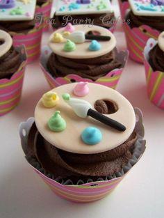 Painting cupcakes