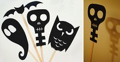 Halloween Shadow Puppets - MollyMoo - crafts for kids and their parents