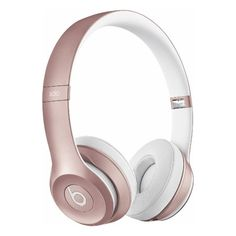 Beats by Dr. Dre Solo2 On-Ear Wireless Headphones Rose Gold ($240) ❤ liked on Polyvore featuring accessories and tech accessories