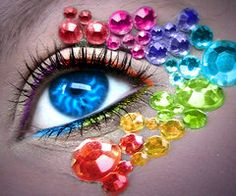 eye candi, diy beauti, rainbow eyes, rainbows, color whore, eye jewel, eye art, eye ఠఠ, carniv makeup