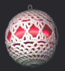 Crochet ball ornaments. To make with out the balls inside use a balloon and starch