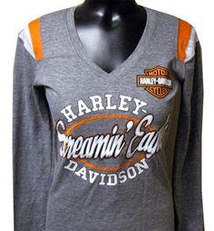 Harley-Davidson® Women's Triblend Jersey Screamin' Eagle Shirt HARLLT01500