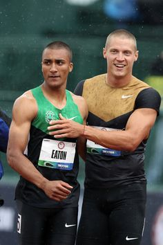 Ashton Eaton and Trey Hardee--gold and silver in London 2012 decathalon