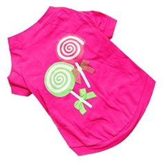 Dog Sweaters - kaifongfu sales Dog Pet Clothes Summer Pink Princess Vest Sleeveless TShirts Apparel S Pink *** You can get additional details at the image link. (This is an Amazon affiliate link)