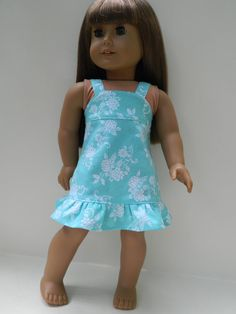 American Girl Doll Clothes   Floral Print Sundress by 18Boutique, $18.00