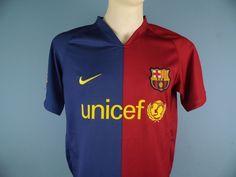 Authentic Barcelona 2008-09 Home Shirt Size Medium Nike Unicef
