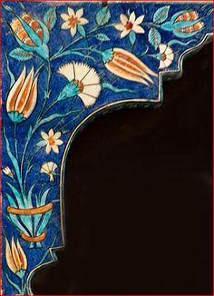 Çini Turkish Design, Turkish Art, Turkish Tiles, Islamic Tiles, Islamic Art, Art Floral, Iranian Art, Tea Art, Tile Patterns