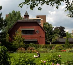 The Big Red Barn in summertime. Photo by University Photography.