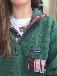 Southern Proper All Prep Pullover in Hunter Green