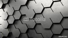 """Laden Sie das lizenzfreie Foto """"3D Hexagon Hintergrund aus Metall"""" von Robert Kneschke zum günstigen Preis auf Fotolia.com herunter. Stöbern Sie in unserer Bilddatenbank und finden Sie schnell das perfekte Stockfoto für Ihr Marketing-Projekt!"""