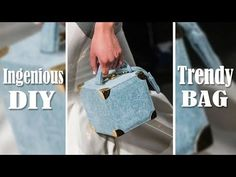 In this video DIY tutorial I show you an easy way to make the purse bag by own hands from scratch. I've found a cute bag idea and decided to make such jeans . Diy Handbag, Diy Purse, Handbag Tutorial, Old Jeans Recycle, Mochila Jeans, Jean Purses, Denim Tote Bags, Recycled Denim, Cute Purses