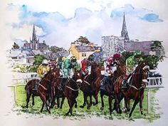 """""""The Listowel  Races, a horse racing tradition of more than a hundred years."""" Listowel in North Kerry. The Creaky Traveler in Ireland, by Warren Rovetch. Sentient Publications. www.sentientpublications.com"""