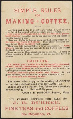 Brooks' Chocolate and Cocoa Preparations [back], 1886 - Advertising cards (19th Century American Trade Cards, Boston Public Library)