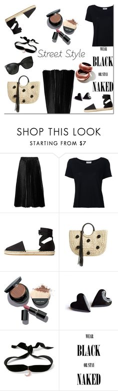 """Street Style - Black edition!"" by tatajrj ❤ liked on Polyvore featuring Comme des Garçons GIRL, Frame, MANGO, Rebecca Minkoff, Giorgio Armani, Aamaya by Priyanka, Chanel, StreetStyle, Street and StreetChic"