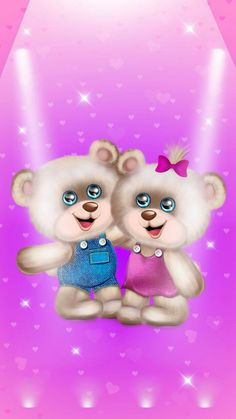 Pink Polka Dots Wallpaper, Flower Wallpaper, Beautiful Flowers Wallpapers, Cute Wallpapers, Teddy Bear Pictures, Cute Love Pictures, Tatty Teddy, Topper, Funny Cute