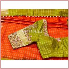 Kids Blouse Designs, Saree Blouse Designs, Blouse Patterns, Saree Blouse Models, Maggam Work Designs, Gold Mangalsutra, Indian Bridal Fashion, Saree Trends, Kanchipuram Saree