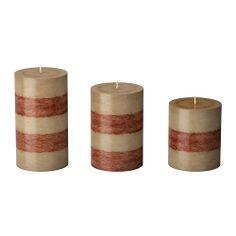RANDIG Scented Block Candle, Set Of 3, Beige; $10