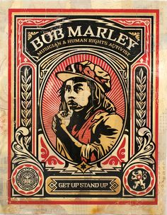 Shepard Fairey ~ Bob Marley