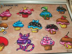 Picked the Mad Hatter cupcake to be one of my next tattoos last time I was in Richmond.  I can't wait to get it.  ***Mad Hatter Love***