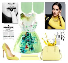 """""""Untitled #4"""" by farisdelic ❤ liked on Polyvore featuring WithChic, Christian Louboutin and Kate Spade"""