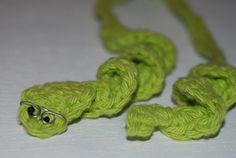 crochet bookworm bookmark