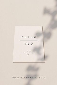 discount card design ideas Simple Modern Wedding Thank You Card by Piper East Design Business Thank You Cards, Wedding Thank You Cards, Custom Thank You Cards, Corporate Design, Branding Design, Logo Design, Etsy Discount Code, Thank You Card Design, Thanks Card
