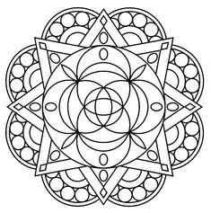 free printable geometric mandala coloring page Mandala Coloring Pages, Coloring Pages To Print, Free Printable Coloring Pages, Coloring Sheets, Coloring Pages For Kids, Coloring Books, Geometric Mandala, I Love You Mom, Colorful Artwork