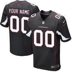 Nike Elite Black Men's Jersey - Customized Arizona Cardinals NFL Alternate