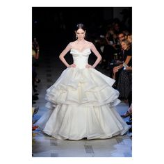 Zac Posen Spring 2013 ❤ liked on Polyvore featuring people, runway, zac posen, dresses and wedding