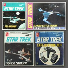 {Searching for kids toy tips? Vintage Models, Vintage Toys, Retro Toys, Plastic Model Kits, Plastic Models, Childhood Toys, Childhood Memories, Star Trek Merchandise, Sci Fi Models