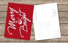 Cărți postale numai bune pentru a răspândi Magia sărbătorilor de Iarnă || Cherry & Cherry PRINTS #craciun #christmascards #cherrycherryprints #cadouridecraciun Merry, Prints, Magick