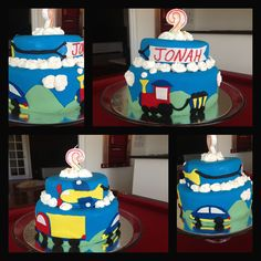 Transport cake for a little boys birthday that I made :)