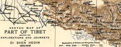 #Map of #Tibet Showing European Exploration (1909) -- http://www.bigmapblog.com/2012/map-of-tibet-showing-european-exploration-1909/
