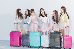 """gfriendunited: """"""""GFRIEND for American Tourister Behind the Scenes """" """" Gfriend Album, G Friend, With All My Heart, Must Haves, American, Kpop, Fashion, Moda, Fasion"""