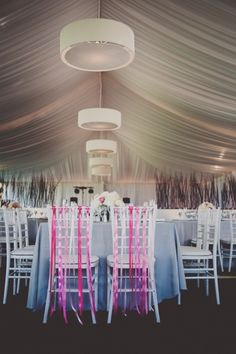 Beautiful reception with personal details. @Morgan Gallo Events
