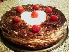 """Συνταγές για διαβητικούς και δίαιτα: ΤΟΥΡΤΑ """"ΒΑΛΕΝΤΙΝΟ""""..χωρίς ζάχαρη και βούτυρο Valentines Day Desserts, Sweet Recipes, Birthday Cake, Pudding, Sweets, Vegan, Breakfast, Food, Sweet Sweet"""