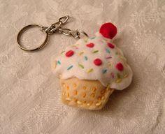 cute cupcake key chain