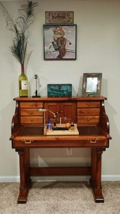 My Craigslist find! I searched for months for a fly tying desk like this.  $135