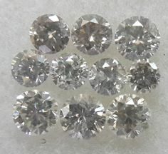 Superfine Quality 0.31cts 10pc Natural Loose Diamond G Color VS2-SI1 Clarity