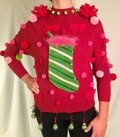 Matching Ugly Christmas Sweaters, Homemade Ugly Christmas Sweater, Ugly Christmas Sweater Women, Funny Christmas Sweaters, Ugly Sweater, Christmas Ideas, Womens Christmas, Christmas Hair, Christmas Outfits